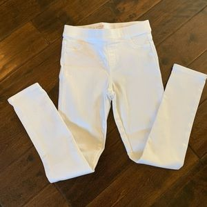Vineyard vines white denim jeggings youth 10